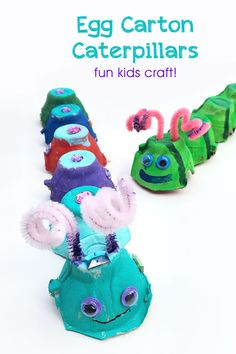 Kids will love making these colorful egg carton caterpillars Paint them with craft paint and add pipe cleaner antennas googly eyes rhinestones and more This fun kids painting activity is a great way to be creative Kids Painting Activities, Painting For Kids, Craft Activities, Preschool Crafts, Toddler Activities, Recycled Crafts Kids, Craft Projects For Kids, Fun Crafts For Kids, Baby Crafts