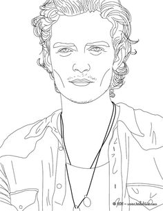 Kate Moss in coloring sheet. More famous people coloring pages on ...