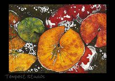 Autumn Koi (2014), by Erika Schulz Original ACEO 2.5 x 3.5, Watercolour