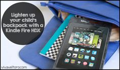 """Come see why I think the Kindle Fire HDX 8.9"""" tablet is a #backtoschool essential! #client http://www.vivaveltoro.com/2014/08/lighten-childs-backpack-load-kindle-fire-hdx.html?utm_campaign=coschedule&utm_source=pinterest&utm_medium=Ruth%20V.%20(Viva%20Veltoro)&utm_content=Lighten%20up%20your%20child's%20backpack%20with%20the%20Kindle%20Fire%20HDX!%20"""