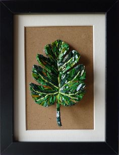 Mosaic Artwork, Mosaic Wall Art, Mosaic Glass, Glass Art, Mosaic Crafts, Mosaic Projects, Mosaic Ideas, Green Leaves, Plant Leaves
