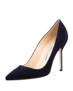 BB+Suede+105mm+Pump+by+Manolo+Blahnik+at+Neiman+Marcus.