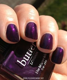 butterLONDON - Pitter Patter (A L.E. Aubergine Shimmer Created for the Royal Baby-to-Be!) / PolishInsomniac [In honor of the royal baby]