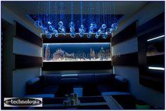 Żyrandol Światłowodowy Orbita dekoracja salonu