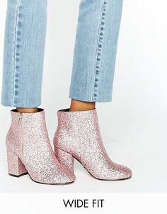 UK 3 | ASOS | ASOS REGAN Wide Fit Mid Heel Ankle Boots