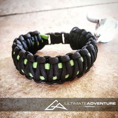 Black & Neon Green King Cobra Paracord Bracelet, Hunting Fashion, Fathers Day Gift, Mens Bracelet, EDC Bracelet, Wanderlust Accessories, EDC