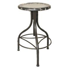 Casa Cortes Vintage Adjustable Metal Bar Stool   Overstock.com Shopping - The Best Deals on Bar Stools