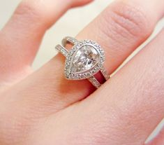Pear shaped rose cut diamond set on rounded band. Description from pinterest.com. I searched for this on bing.com/images