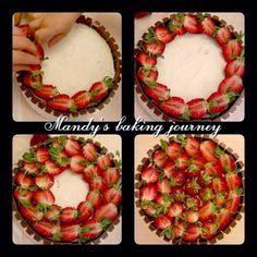Mandy's baking journey: Strawberry decorations