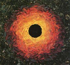 De schot Andy Goldsworthy creëert kunst door het arrangeren van bladeren, stokken, stenen en andere dingen die hij in de natuur vindt. Dat geeft mooie kunstwerken in de natuur:  http://www.top13.net/land-artworks-andy-goldsworthy/