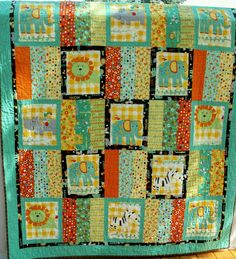 Flannel Jungle Quilt for Child