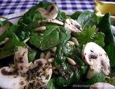 receta de ensalada de espinacas crudas - Buscar con Google
