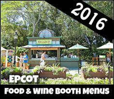 Information for Epcot Food and Wine Festival Marketplace Food Booths Menus, Pricing, Photos, Beer, Wine & Dining Plan Snack Credits Information