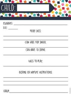 {FREE} Babysitter Binder by Primary Polka Dots | Teachers Pay Teachers
