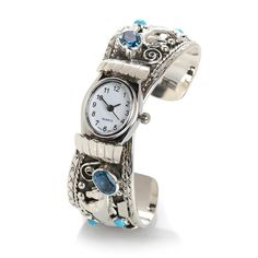 nwot CHACO CANYON Couture Multigemstone HORSE 925 Cuff Bracelet Watch MSRP $459  #ChacoCanyon