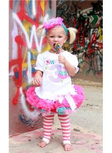 """Sweet To Be"" Birthday Pettiskirt Set"