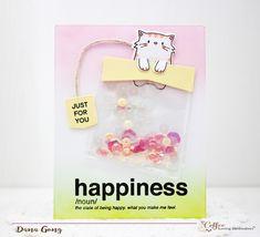 Tea bag shaker card  MME Page Huggers stamp set