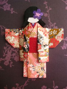 Japanese Chiyogami Paper Doll - Hitomi | by umeorigami