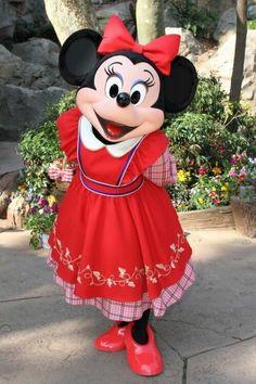 Minnie Mouse at Fantasyland at Walt Disney World