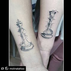 Image result for chess piece couple tattoos