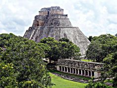 Pyramid of the Magician, Uxmal, Mexico