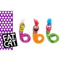 """This is a special offer.  Limited Quantities availableFat Cat is a brand of Petmate dedicated to making people and pets laugh every single day.Kitties go all a-twitter for the irresistible bounce of Springy Worms! Designed with Cat Psychology in mind (we understand the kitty brain), they're """"Built to Bounce"""", baby!Contains our famous Zoom Around the Room® high-test organic catnipWow! 2 toys per pack!"""