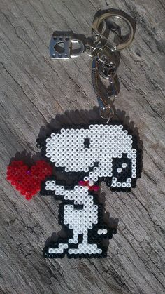 key rings in hama beads