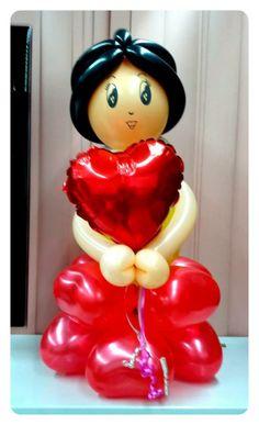 Love my Heart Balloon Doll