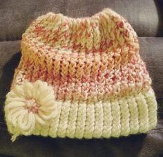 Pretty in Pink messy bun handmade by LizieWizie Crafty Creations.  #Facebook