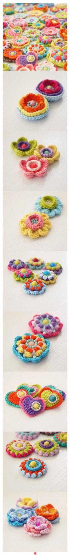 Crochet Flowers by Cyndyg