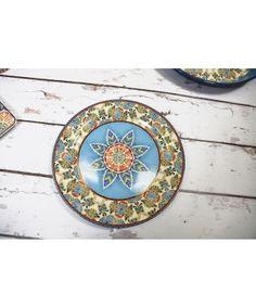 Carraig Donn Delphi Azure Blue Dinner Plate - Dining Set #Morrocan #Inspired