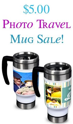 $5 Photo Travel Mug Sale! {+ s/h} - these make such fun personalized gifts!