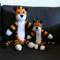 Hobbes plush toy sewing pattern by SilentOrchidStudio on Etsy, $10.00