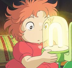 Ponyo, I love the look on her face. She's so cute!