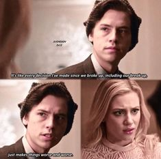 duhhhhh you think juggie Watch Riverdale, Bughead Riverdale, Riverdale Archie, Riverdale Funny, Riverdale Betty And Jughead, Riverdale Quotes, Netflix, Cole Spouse, Lili Reinhart And Cole Sprouse