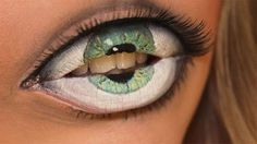 Eye Over The Lips 3D Tattoo