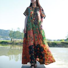 Cheap dress vestidos, Buy Quality long beach dress directly from China beach dress Suppliers: Ladies' Summer Long Beach Dress Ethnic Bohemian Shirt Dress Vintage Cotton Robe Femme Patchwork Boho Maxi Long Dresses Vestidos Long Beach, Summer Beach, Hippie Dresses, Boho Dress, Hippy Dress, Dress Casual, Vestidos Vintage, Vintage Dresses, Short Beach Dresses