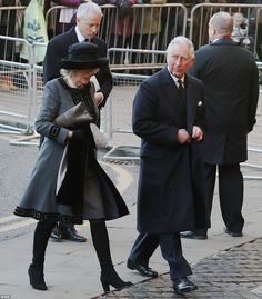 Camilla Duchess of Cornwall and Prince Charles at the memorial service for Gerald Grosvenor Duke of Westminster. Prince William And Kate, Prince Of Wales, Prince Charles, Westminster, Kate Middleton, Hugh Grosvenor, Chester Cathedral, Camilla Duchess Of Cornwall, Lady In Waiting