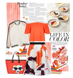 """Life in Color"" by ellie366 ❤ liked on Polyvore featuring KAROLINA, Monki, Jonathan Adler, Diane Von Furstenberg, Topshop, Kate Spade, Jessica Simpson, Karl Lagerfeld, Wedges and orange"