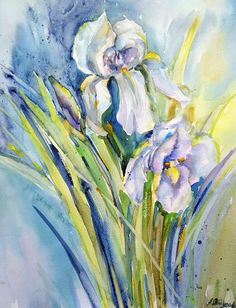 Original watercolor painting watercolor  flowers floral