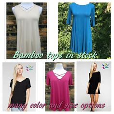 Look at this selection of USA made bamboo tops exclusive to abby + Anna boutique! In stock now!
