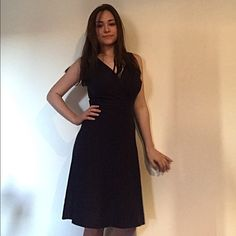 CYBER MONDAY SALE INC Ribbed-Torso Navy Dress •75% Rayon, 25% Nylon.                                             •Machine Washable INC International Concepts Dresses Midi