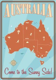 Vintage Poster - Travel Australia • CWA Australia recipes