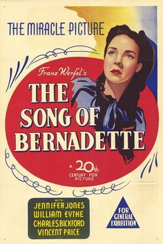 The Song of Bernadette (1943) Book is better, of course . . .