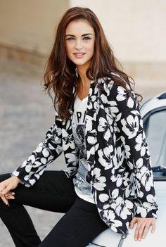 Large Floral Crepe Jacket