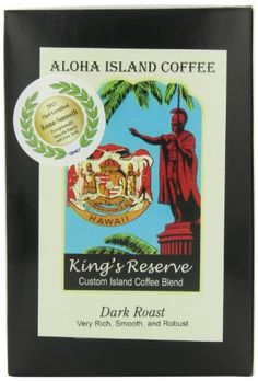 Aloha Island Kona Smooth Dark Roast Kings Reserve Hawaiian Blend Coffee Pods, 18 Pods, 18-Count Aloha Island Coffee http://www.amazon.com/dp/B004QLZEMS/ref=cm_sw_r_pi_dp_PIRsvb0V454BK