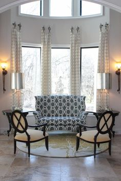 I like the way the curtains are hung.  may need to imitate this in my GREAT room!