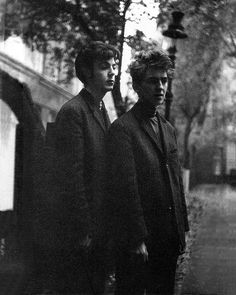 Paul and George in Hamburg, 1960, by Astrid Kirchherr