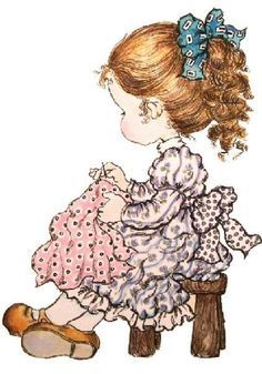 Sarah Kay by roslyn Sarah Key, Holly Hobbie, Mary May, Decoupage, Cute Images, Cute Illustration, Vintage Pictures, Vintage Cards, Cute Drawings