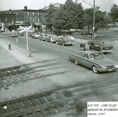 In 1960, you could drive right across the tracks from Riverside to Elgin. Disoriented? Tap on the photo to see where the Laughing Buddha is today. Crazy eh?